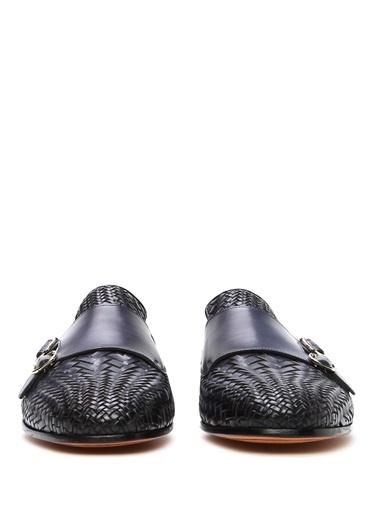 Santoni %100 Deri Loafer Ayakkabı Mavi